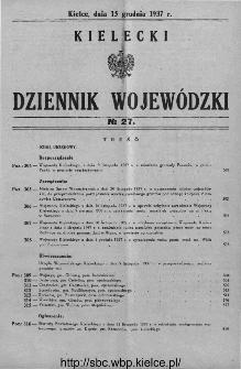 Kielecki Dziennik Wojewódzki 1937, nr 27