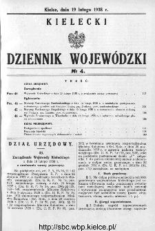 Kielecki Dziennik Wojewódzki 1938, nr 4