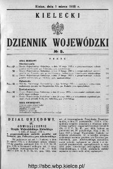 Kielecki Dziennik Wojewódzki 1938, nr 5