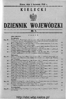 Kielecki Dziennik Wojewódzki 1938, nr 7