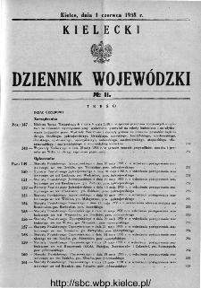 Kielecki Dziennik Wojewódzki 1938, nr 11