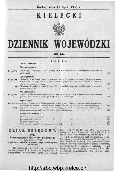 Kielecki Dziennik Wojewódzki 1938, nr 14