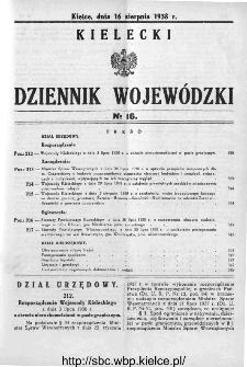 Kielecki Dziennik Wojewódzki 1938, nr 16