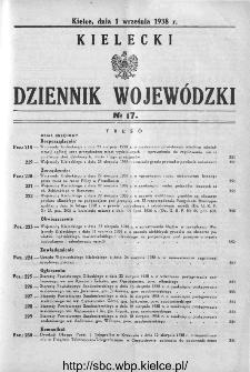 Kielecki Dziennik Wojewódzki 1938, nr 17