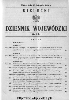 Kielecki Dziennik Wojewódzki 1938, nr 23