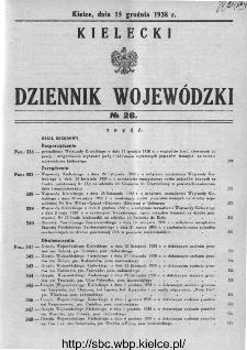 Kielecki Dziennik Wojewódzki 1938, nr 26