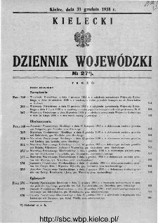 Kielecki Dziennik Wojewódzki 1938, nr 27