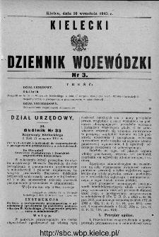 Kielecki Dziennik Wojewódzki 1945, nr 3