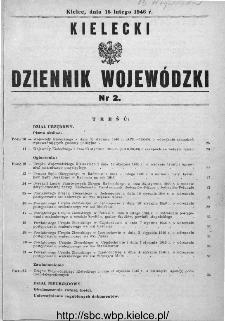 Kielecki Dziennik Wojewódzki 1946, nr 2