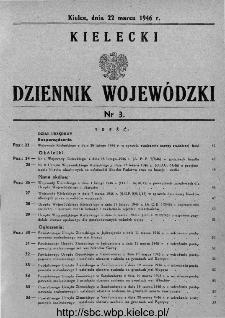 Kielecki Dziennik Wojewódzki 1946, nr 3