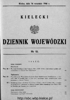 Kielecki Dziennik Wojewódzki 1946, nr 10