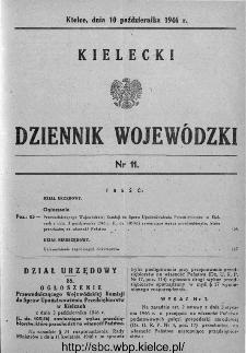 Kielecki Dziennik Wojewódzki 1946, nr 11