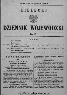 Kielecki Dziennik Wojewódzki 1946, nr 17