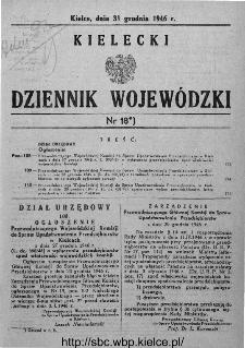 Kielecki Dziennik Wojewódzki 1946, nr 18