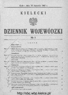 Kielecki Dziennik Wojewódzki 1947, nr 1