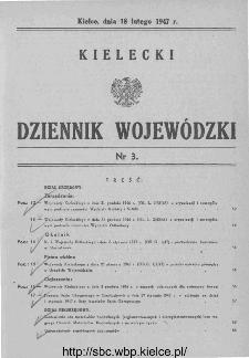 Kielecki Dziennik Wojewódzki 1947, nr 3