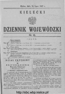 Kielecki Dziennik Wojewódzki 1947, nr 10