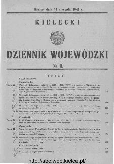 Kielecki Dziennik Wojewódzki 1947, nr 11
