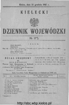 Kielecki Dziennik Wojewódzki 1947, nr 17