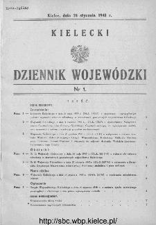 Kielecki Dziennik Wojewódzki 1948, nr 1