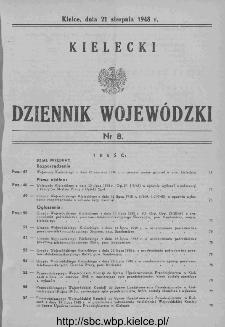 Kielecki Dziennik Wojewódzki 1948, nr 8
