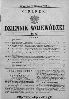 Kielecki Dziennik Wojewódzki 1948, nr 13