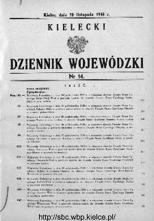 Kielecki Dziennik Wojewódzki 1948, nr 14