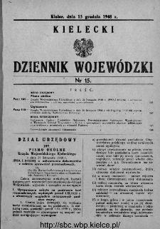 Kielecki Dziennik Wojewódzki 1948, nr 15
