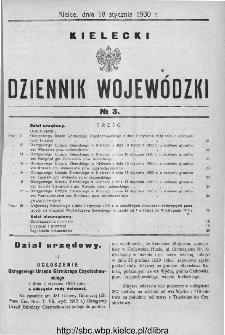 Kielecki Dziennik Wojewódzki 1930, nr 3