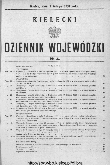 Kielecki Dziennik Wojewódzki 1930, nr 4