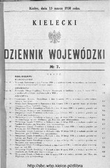 Kielecki Dziennik Wojewódzki 1930, nr 7
