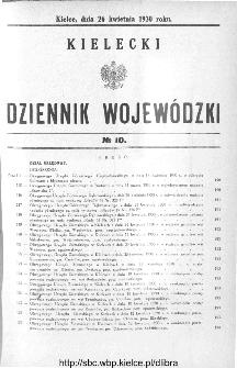 Kielecki Dziennik Wojewódzki 1930, nr 10