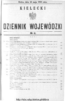 Kielecki Dziennik Wojewódzki 1930, nr 11