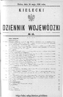 Kielecki Dziennik Wojewódzki 1930, nr 12