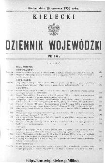 Kielecki Dziennik Wojewódzki 1930, nr 14