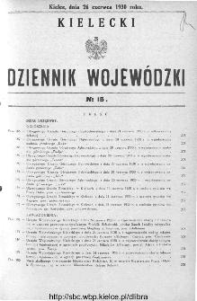 Kielecki Dziennik Wojewódzki 1930, nr 15