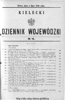 Kielecki Dziennik Wojewódzki 1930, nr 16