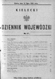 Kielecki Dziennik Wojewódzki 1930, nr 17