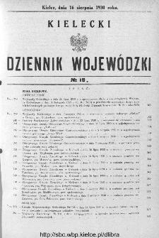 Kielecki Dziennik Wojewódzki 1930, nr 19