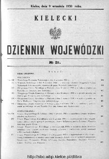 Kielecki Dziennik Wojewódzki 1930, nr 21