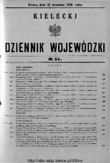 Kielecki Dziennik Wojewódzki 1930, nr 24