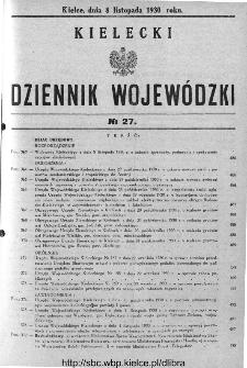 Kielecki Dziennik Wojewódzki 1930, nr 27