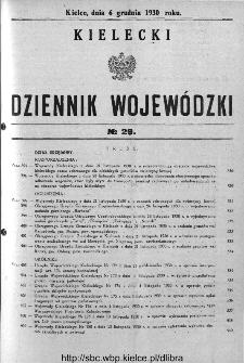 Kielecki Dziennik Wojewódzki 1930, nr 29