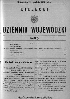 Kielecki Dziennik Wojewódzki 1930, nr 31