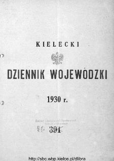 Skorowidz alfabetyczny do Kieleckiego Dziennika Wojewódzkiego, rok 1930, nr 1-31