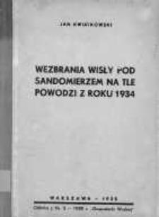 Wezbrania Wisły pod Sandomierzem na tle powodzi z roku 1934