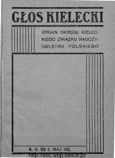 """Głos Kielecki : organ Okręgu Kieleckiego Związku Nauczycielstwa Polskiego : bezpłatny dodatek do """"Głosu Nauczycielskiego"""" 1936, R. 2, nr 9"""