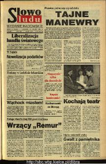 Słowo Ludu,1993 R.XLIV, nr 291 (wydanie radomskie)