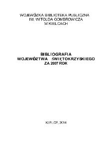 Bibliografia regionalna 2007