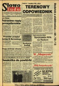 Słowo Ludu 1994, XLV, nr 33 (wydanie radomskie)